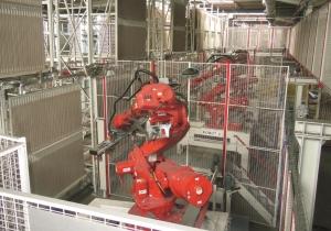 Robot de découpe de bois de la SALM